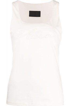 Philipp Plein Mujer Playeras - Camiseta con logo bordado