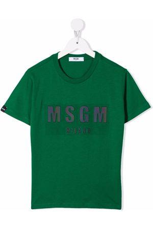 Msgm Playera con logo estampado