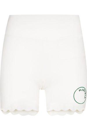 Marysia Mujer De mezclilla - Billie Jean scalloped running shorts