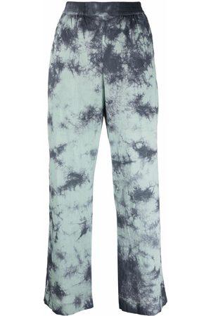 McQ Mujer Anchos y de harem - Pantalones anchos con motivo tie-dye