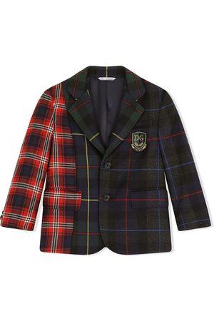 Dolce & Gabbana Niño Sacos - Blazer a cuadros estilo patchwork