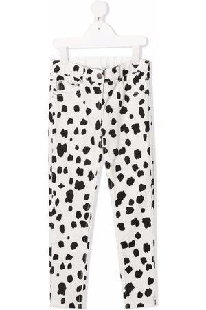Stella McCartney Niña Pantalones y Leggings - Pantalones de pana con motivo de dálmatas