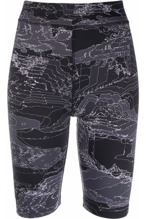 McQ Mujer Shorts - High-rise fitted cycling shorts