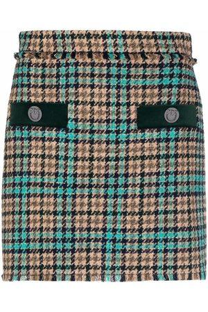 Pinko Mujer Minifaldas - Minifalda con motivo pied de poule