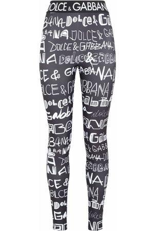 Dolce & Gabbana Mujer Leggings y treggings - Leggins con logo de grafiti