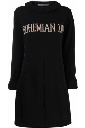 Alberta Ferretti Mujer Vestidos - Bohemian Life intarsia-knit dress