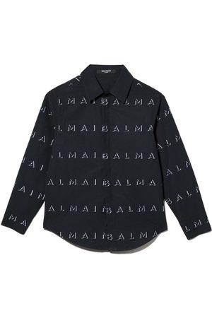 Balmain Niño Camisas - Camisa con logo estampado