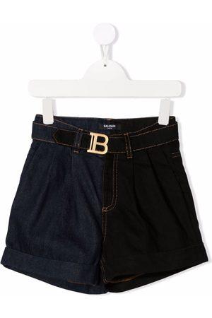 Balmain Belted denim shorts