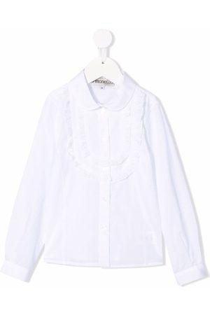 Simonetta Niña Manga larga - Ruffled-detail long-sleeve shirt