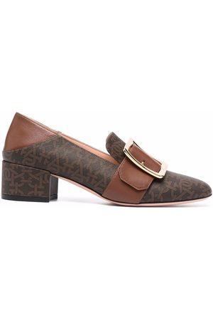 Bally Mujer Mocasines - MJanelle monogram buckle loafers