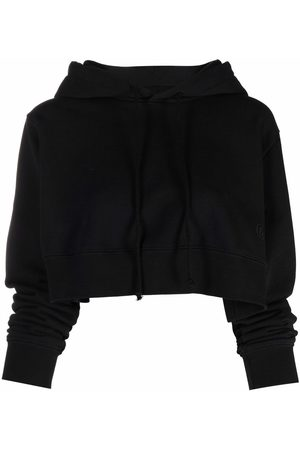 MM6 MAISON MARGIELA Mujer Con capucha - Cropped cotton hoodie