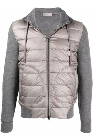 HERNO Hombre Chamarras - Contrast-panel hooded down jacket