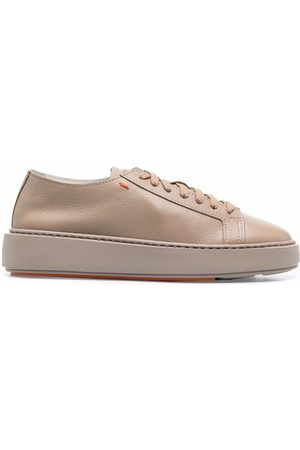 Santoni Mujer Tenis - Lace-up leather sneakers