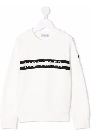 Moncler Enfant Logo stripe sweatshirt