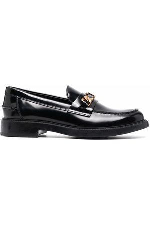 Tod's Mujer Mocasines - Logo-plaque leather loafers