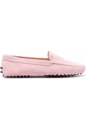 Tod's Mujer Mocasines - Almond toe suede loafers