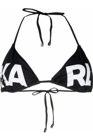 Karl Lagerfeld Mujer Bikinis - Top de bikini con cuello halter