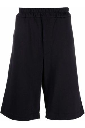 Jil Sander Hombre Shorts - Long cotton track shorts