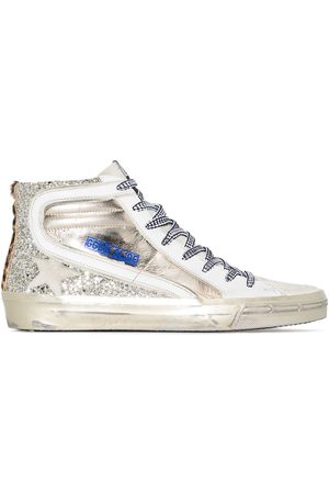 Golden Goose Mujer Tenis - Glitter slide high top sneakers