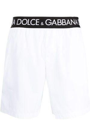 Dolce & Gabbana Hombre Tenis - Logo-tape slip-on swim shorts