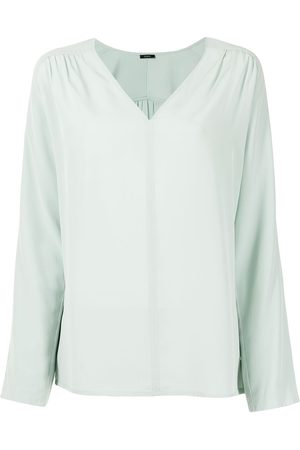 Joseph Mujer Blusas - Blusa de seda con cuello en V