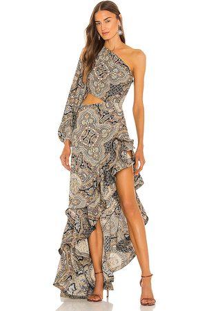Bronx and Banco Mujer Maxi - Vestido largo paisley en color beige talla L en - Beige. Talla L (también en XS, S, M).