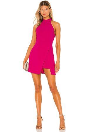 Amanda Uprichard Vestido raelynn en color fucsia talla L en - Fuchsia. Talla L (también en XS, S, M).