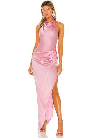 Amanda Uprichard Mujer Maxi - Vestido largo samba en color rosado talla L en - Pink. Talla L (también en XS, S, M).