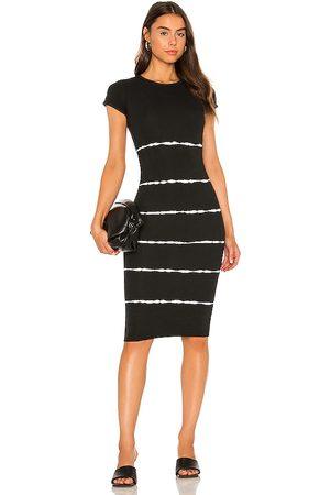 AllSaints Vestido midi niko en color talla 00 en - Black. Talla 00 (también en 0, 2, 4, 6, 8, 10).