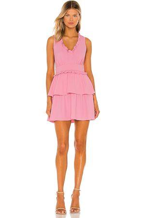 Amanda Uprichard Vestido moneta en color rosado talla L en - Pink. Talla L (también en XS, S, M).