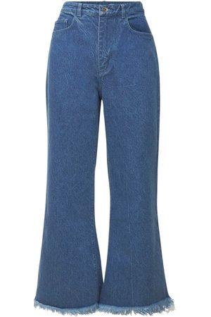 MARQUES'ALMEIDA Jeans Acampanados De Denim De Algodón Orgánico