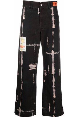 Heron Preston SHIBORI TIE DYE CHINO PANTS BLACK WHITE
