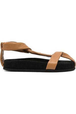 Neous Cross strap detail sandals