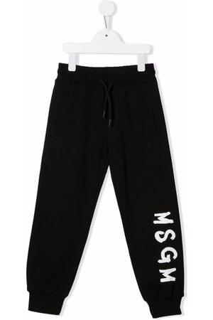 Msgm Niño Pantalones y Leggings - Logo-print track pants
