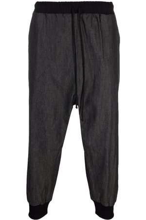 Alchemy Hombre Con pinzas - Cropped drop-crotch trousers