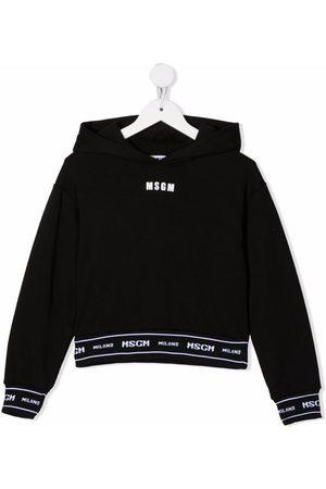 Msgm Niña Con capucha - Logo-trim hoodie