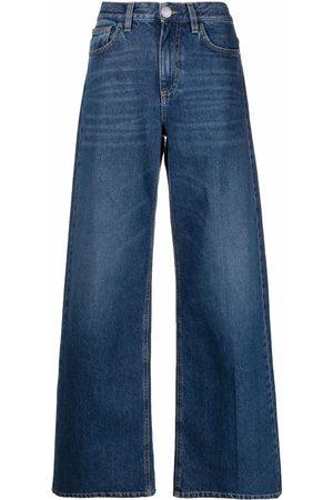 Pinko Mujer Jeans - Jeans anchos con tiro alto