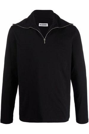 Jil Sander Hombre Suéteres - Short-zip stretch-cotton sweater