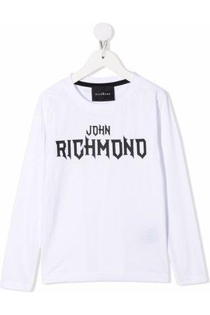 John Richmond Junior Logo print long sleeved T-shirt