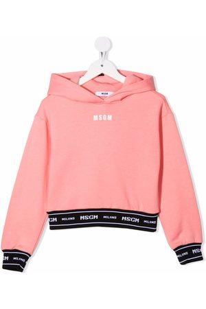 MSGM Kids Logo long-sleeve hoodie