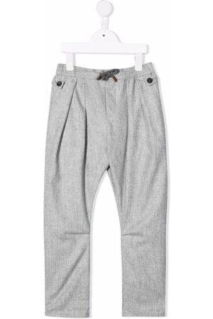 Brunello Cucinelli Kids Niño Pantalones y Leggings - Pleated wool trousers