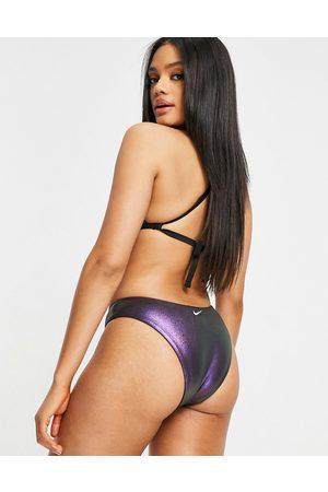 Nike Swimming Onyx Flash bikini bottoms in iridecent black