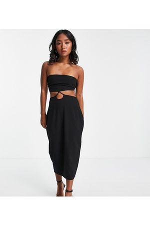 Vesper Bodycon cut out bandeau dress in black