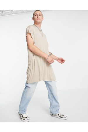 ASOS Oversized longline viscose vest in