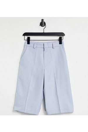 Collusion Long line shorts in icey blue