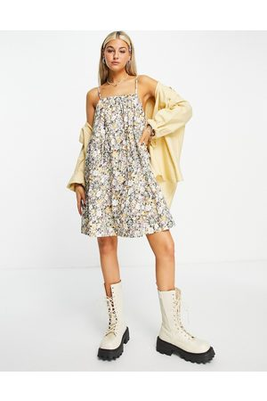 Object Mini strappy dress in ditsy print