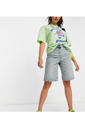 Collusion 90s baggy extreme dad shorts in blue