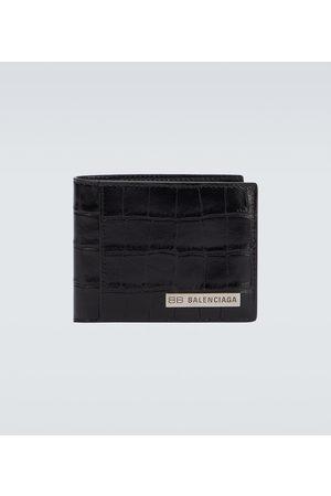 Balenciaga Hombre Carteras y Monederos - Plate square folded leather wallet