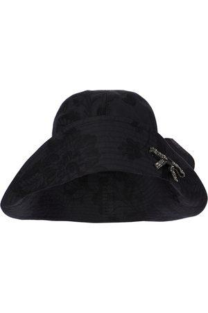 Erdem Embellished cotton bucket hat