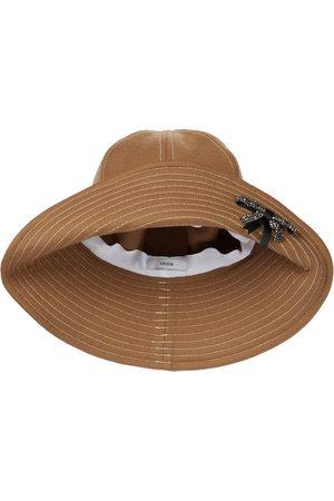 Erdem Embellished wool bucket hat